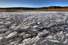 Bonaly Reservoir, Edinburgh (Surely Not) Tags: water scotland frozen nikon edinburgh moo reservoir hills hdr pentland d300 bonaly yourphototips thephotoproject