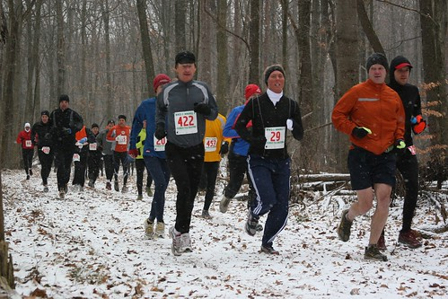 Rob at mile 1 of Tecumseh marathon