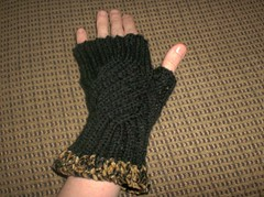 Fancypants Fingerless Mitts - 2