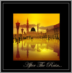 After-the-rian..---  ... (ArabianLens.com) Tags: madinah medina madina saudi arabia islam muslim ramadan prophets mosque musjidnabawi kerala nilambur malappuram boat men fisherman sunset sunrise evening piazza life iftar minarets beautiful photos drawing line skech noushad akambadam artist photography water drops river forest