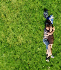 Love in the time of satellites (Nilton Ramos Quoirin) Tags: love boyfriend grass hug girlfriend couple belgium belgique satellite belgi aerial romance lovers namur citadelle nikon55200mm aplusphoto