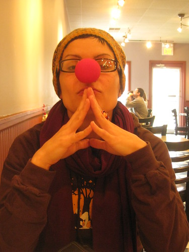 081220. i still have the clown nose from halloween in my purse.