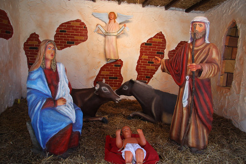 Paper Maché Nativity Scene