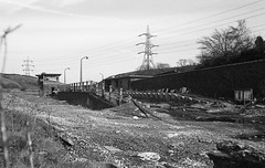 Doomed Dunford Bridge Station - 1988 (Another Partial Success) Tags: blackandwhite abandoned yorkshire moors tunnels dereliction pennines woodhead transpennine devestation penistone disusedrailway greatcentralrailway oldraiway nationalgrid abandonedrailway abandonedstation woodheadroute smashedwindows edwardwoodward dunfordbridge woodheadtunnels doneforbridge abandonedsignalbox