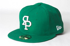 Rock Paper Scissors New Era - Varsity Logo Cap - Kelly Green/White
