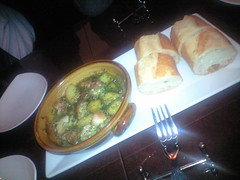 鶏肉のエスカルゴバター@OSTERIA PRIMEUR