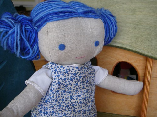blue-haired doll