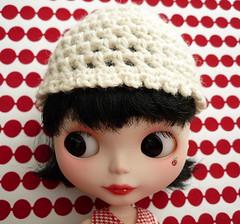 Winter White Crochet Cap for Blythe