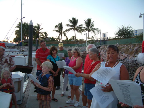 Caroling on the docks at El Cid