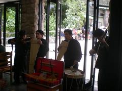 peruvian  band at the Machu Picchu Sanctuary Lodge