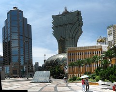 New Casino Lisboa (SpirosK photography) Tags: china panorama building glass skyline skyscraper casino macau stitched impressive newcasinolisboa archiworld