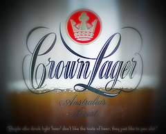 Australia's Finest (Kim Aubrey) Tags: beer quote ale australia bluemountains nsw cheers lager crownlager kimlou58