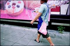 fish and cake (fly) Tags: street thailand asia bangkok canon5d fly simonkolton
