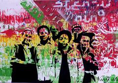 old reggae family (nin9) Tags: street family art painting stencil corua artist graphic series reggae plantillas pld nin9