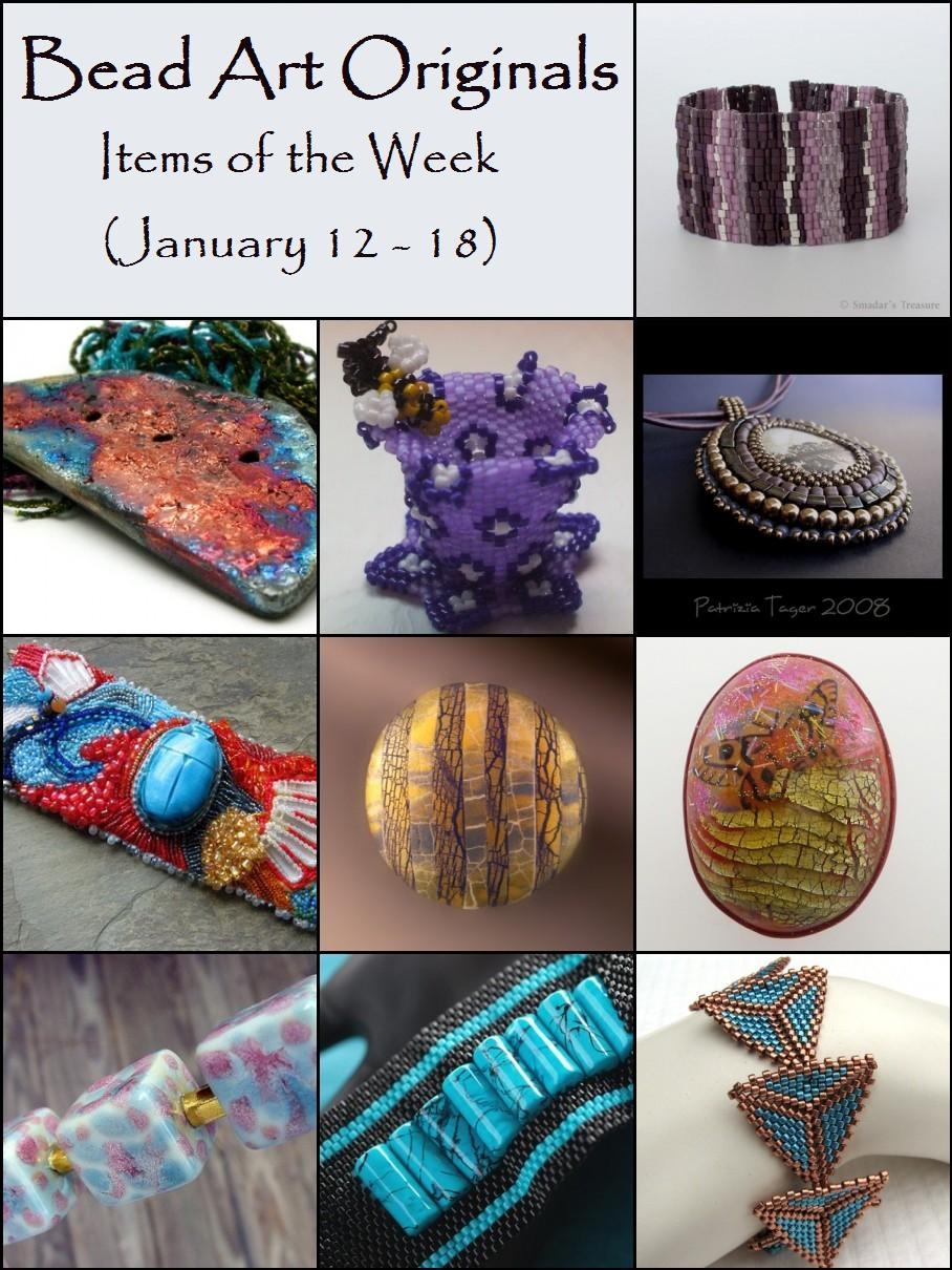 Bead Art Originals Items of the Week (1/12-1/18)