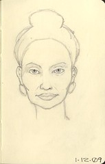 Pencil Sketch - Facial Proportions