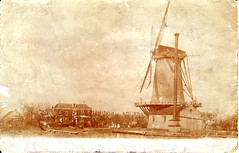 De Vier Winden - Molen / Mill -  1920 (alwinoll) Tags: holland windmill rotterdam thenetherlands paysbas molens moinhos hillegersberg moulins mhlen terbregge prinsalexanderpolder 1920