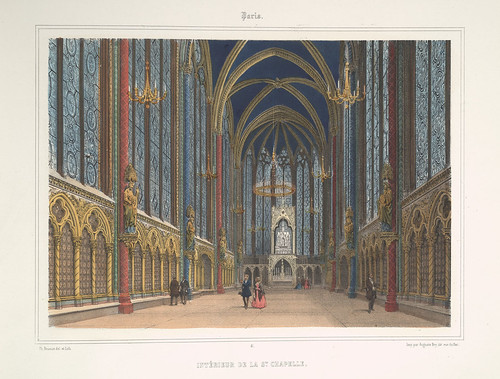 011- Paris-Interior de la Saint Chapelle 1858