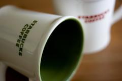 starbucks #3 (joffathan) Tags: red wallpaper green coffee up field shop close shot tea stock cups starbucks mug depth