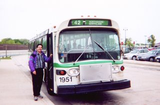 Eddie K on a May 2000 GMC Fishbowl bus fantrip in Milwaukee Wisconsin.