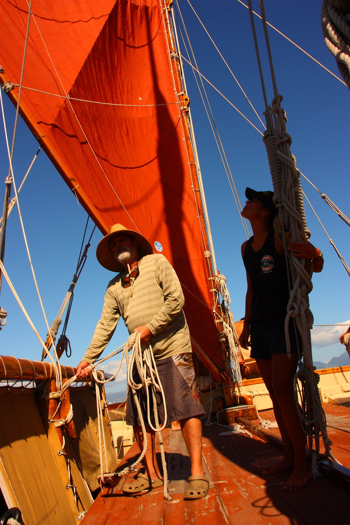 Crew of the Hokule'a or stay in the shade