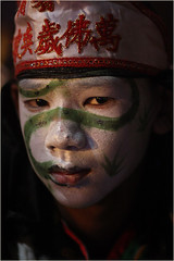 Young Performer-Thailand (kinginexile) Tags: portrait festival portraits children thailand eyes asia religion ceremony festivals chinesenewyear pattaya perplexity chonburi itsong–mirrors–southeastasia earthasia