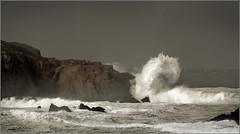 Crash (BrossanovA) Tags: sea cliff storm water rock mar agua wave galicia roca acantilado temporal ola ferrol doniños lobadiz canonistas zenenlightenment mariomanso