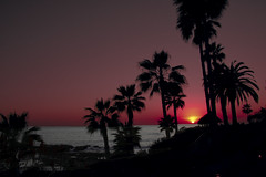 Escape (msgsti217) Tags: ocean california las pink blue trees sunset red vacation sky orange cloud sun beach nature water beautiful beauty yellow set clouds sunrise canon landscape outdoors restaurant golden landscapes natural state shots gray palm views beaches 100 laguna rise brisas 40d