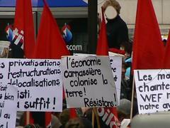 Slogans anti WEF Davos