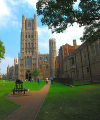 The Approach to Ely Cathedral (antonychammond) Tags: uk england cathedral britain religion ely tp middleages cambridgeshire elycathedral placeofworship churchofengland kartpostal fineartphotos mywinners aplusphoto citrit theunforgettablepictures overtheexcellence vftw theperfectphotographer goldstaraward winnr rubyphotographer pathscaminhos kunstplatzlinternational goldenheartaward