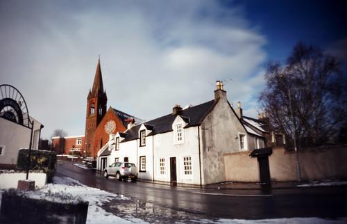 Pinhole image St Andrews church West Kilbride 05Feb09