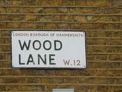 SDC10116 (i love my postcode) Tags: london streetsign postcode hammersmith bbc shepherdsbush w12 woodlane