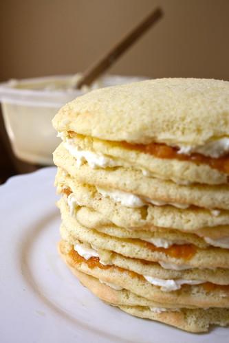 White Dobos Torte