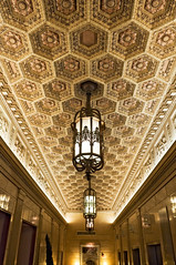 gilded, coffered elevator well ceiling, Magnolia Hotel, 1401 Commerce Street, Dallas, Texas (lumierefl) Tags: lighting usa southwest building architecture hotel dallas texas unitedstates interior tx places ceiling northamerica gilded fixture dallascounty coffered lumierefl sminor elevatorwell