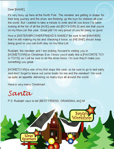 Work Experience Letter Template Year 10. santa letter template