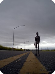 Isolation (8 Skeins of Danger) Tags: road street urban lamp grey robot starwars streetlight cloudy lampost lonely nightmare desolate theendoftheworld bountyhunter ig88 8skeinsofdanger killerdroid
