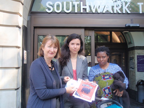 NHS Petition hand in, Camberwell and Peckham