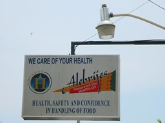 We Care of Your Health (knightbefore_99) Tags: food west strange sign mexico restaurant coast safety mexican health oaxaca care huatulco alebrijes tangolunda