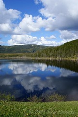 Clouds above South East (Jean Knowles) Tags: trees clouds newfoundland reflections pond peaceful calm arr southeast tranquil allrightsreserved beaverpond grosmornenationalpark newfoundlandandlabrador nottobeusedwithoutmypermission 2011jeanknowles