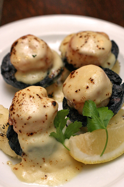Scallops, Black Pudding, Smoked Cheese