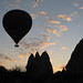 Hot air balloon silhouette - Goreme, Cappadocia, Turkey