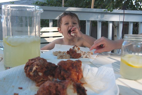 some bunny loves fried chicken!