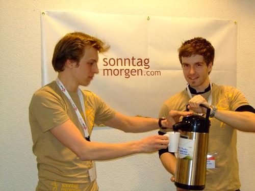 Alex und Till auf dem Barcamp Hannover