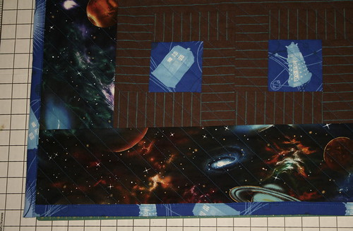 Doctor Who Quilt detail