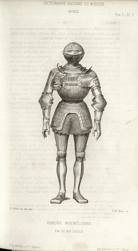 Knight in armour end 14th cent.