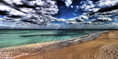 Black Sea HDR Panorama (crymy) Tags: sea sky panorama sun beach clouds canon raw romania blacksea vamaveche photomatix welltaken 40d skyascanvas hdrfrom3raws crymy