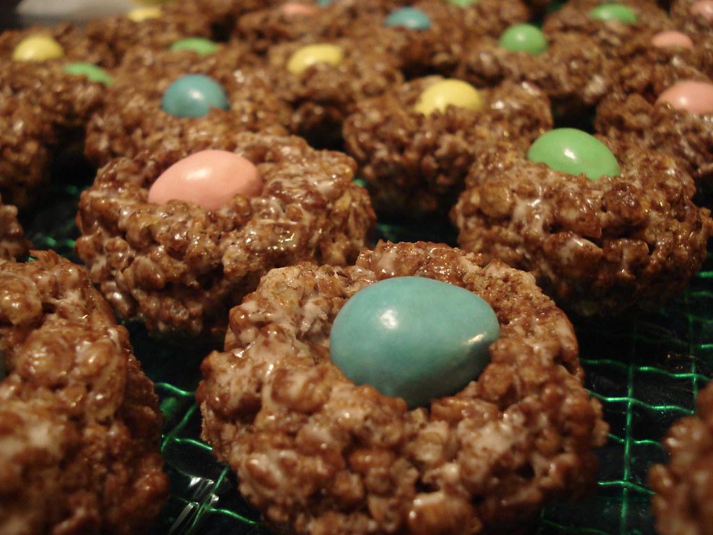 Cocoa Crispie Nests