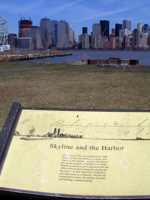 skyline sign, NYC