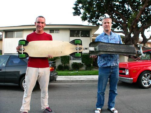 Testing the new skateboard and trailer setup in Redondo Beach, California, USA
