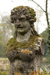Is this what happens when  you don't moisturise? (CarolAnn Photos) Tags: statue nt decay lichen dslr nationaltrust buscotpark 400d beginnerdigitalphotographychallengewinner